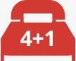 4+1 Camas