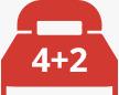 4+2 Camas